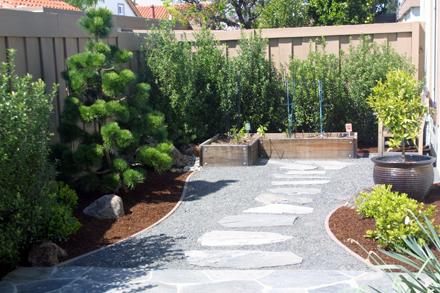 Sustainable low water garden design in san jose for Low water garden design